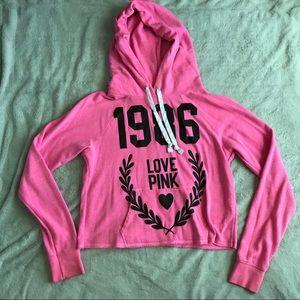 97ddd4a227b PINK Victoria s Secret Tops - PINK Victoria s Secret Cozy Hooded 1986  Sweatshirt